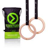 Houten Turn Gym Ringen (28MM)   StreetGains®_