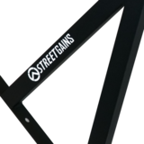 Optrekstang Straight Grip Pull Up Bar System Zwart | StreetGains®_