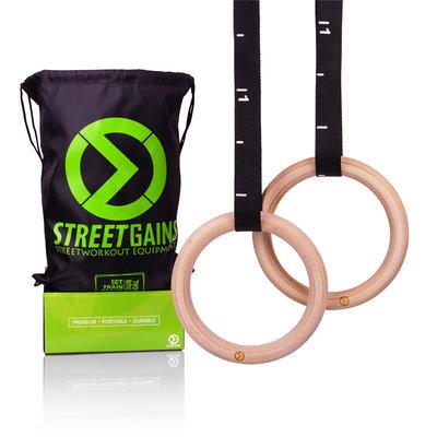Houten Turn Gym Ringen (28MM) | StreetGains®