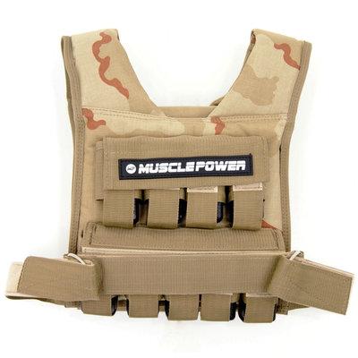 Gewichtsvest 20KG Camo | Muscle Power®