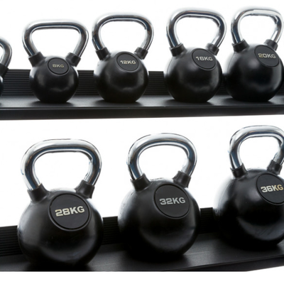 Kettlebell Chrome Rubber | Muscle Power®