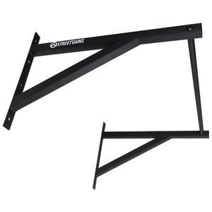 Optrekstang Straight Grip Pull Up Bar System Zwart | StreetGains®